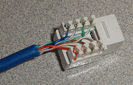 Rj45 Wiring on Structured Wiring Retro   Install 1